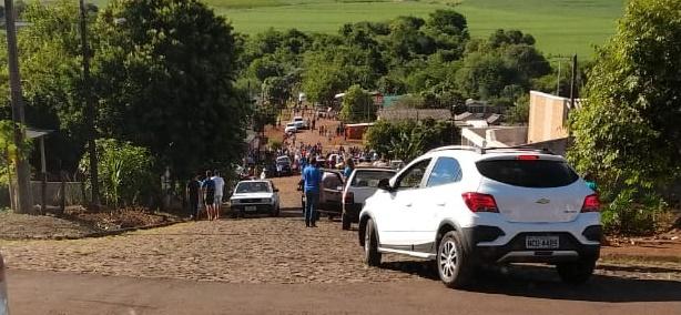 Nova Cantu: Ônibus escolar perde freio e colide contra motociclista que veio a óbito no local