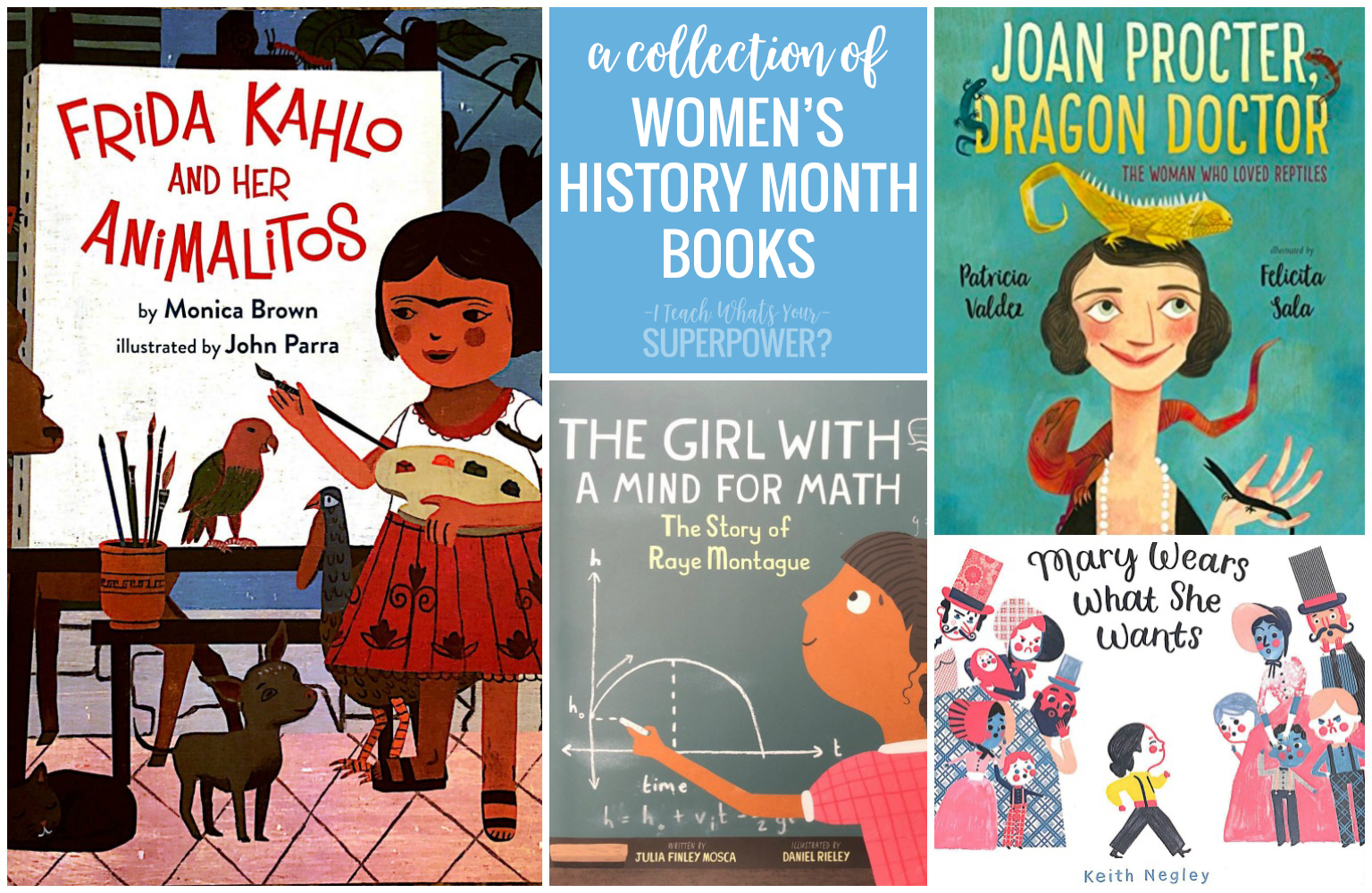 Women's History Month picture books to read aloud and inspire your readers in March and every month of the year!
