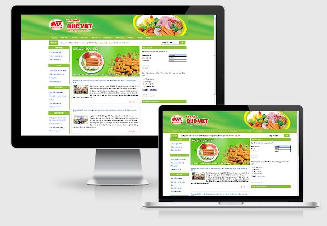 Thiết kế blog giới thiệu đức việt foods