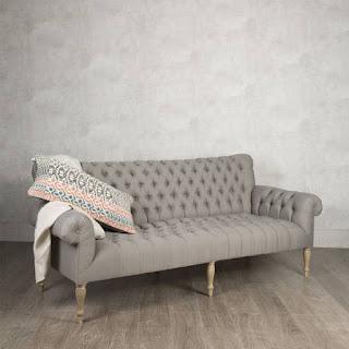 Sofa 3 Plazas Tapizado Capitone Roble Arkardo