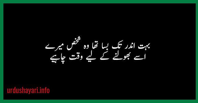 Bhot andar tak basaa tha wo shakhs mere Sad shayari - 2 lines poetry for lover