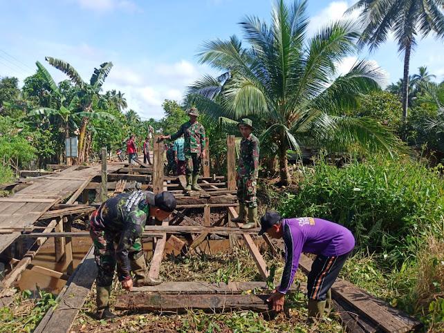 Perbaikan Tiga Jembatan Dalam TMMD Demi Keselamatan Warga