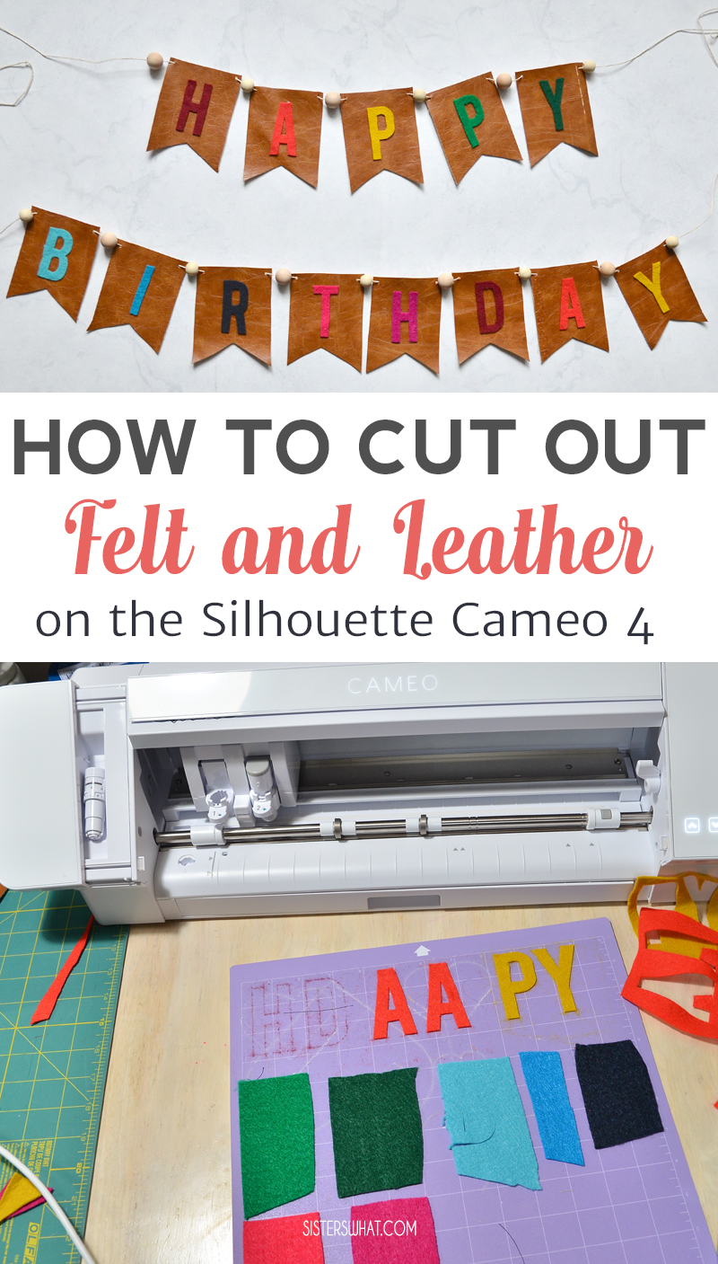 how to cut out felt on cameo 4