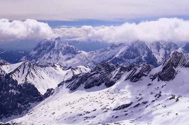 Montanha Zugspitze na Alemanha