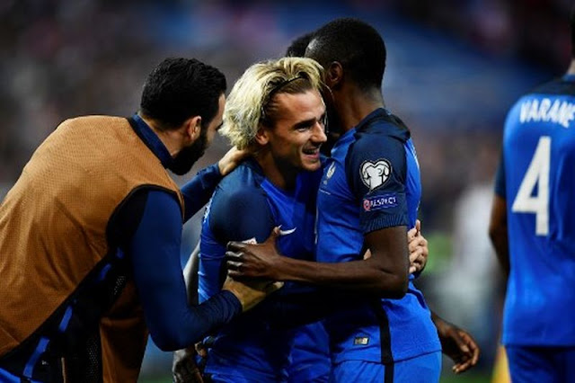 Hasil pertandingan Prancis vs Belarusia, yang di menangi Prancis dengan skor 2 - 1