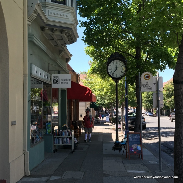 First Street clock in Benicia, California