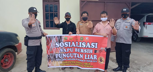 Polsek Dusteng Sosialisasikan Saber Pungli Kepada Masyarakat