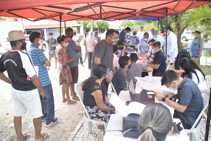 Ações do programa  'A Prefeitura mais perto de Você' realizadas em Tapuio, município de Cariré
