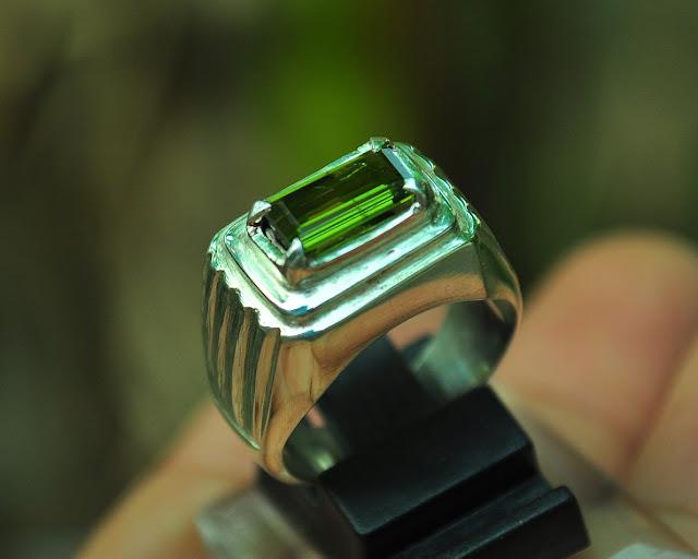 cincin perak tourmaline