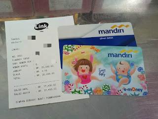 Isi Ulang Kartun e-Money di ATM Link