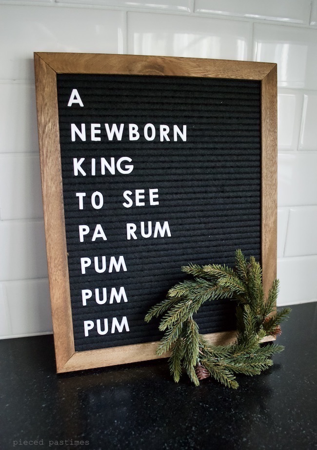 Christmas Letter Board at Pieced Pastimes