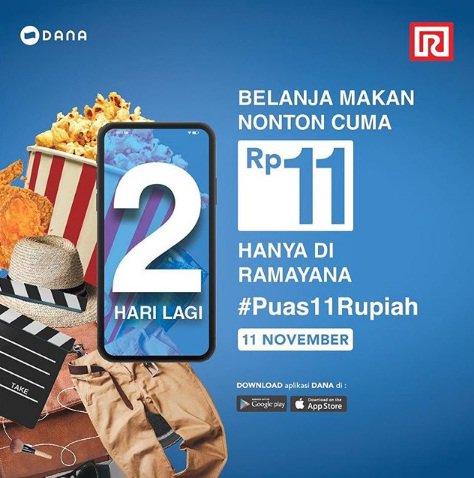 Ramayana - Promo Jeans atau Chinos Cuma 11 Perak Pakai Dana (11 Nov 2018)