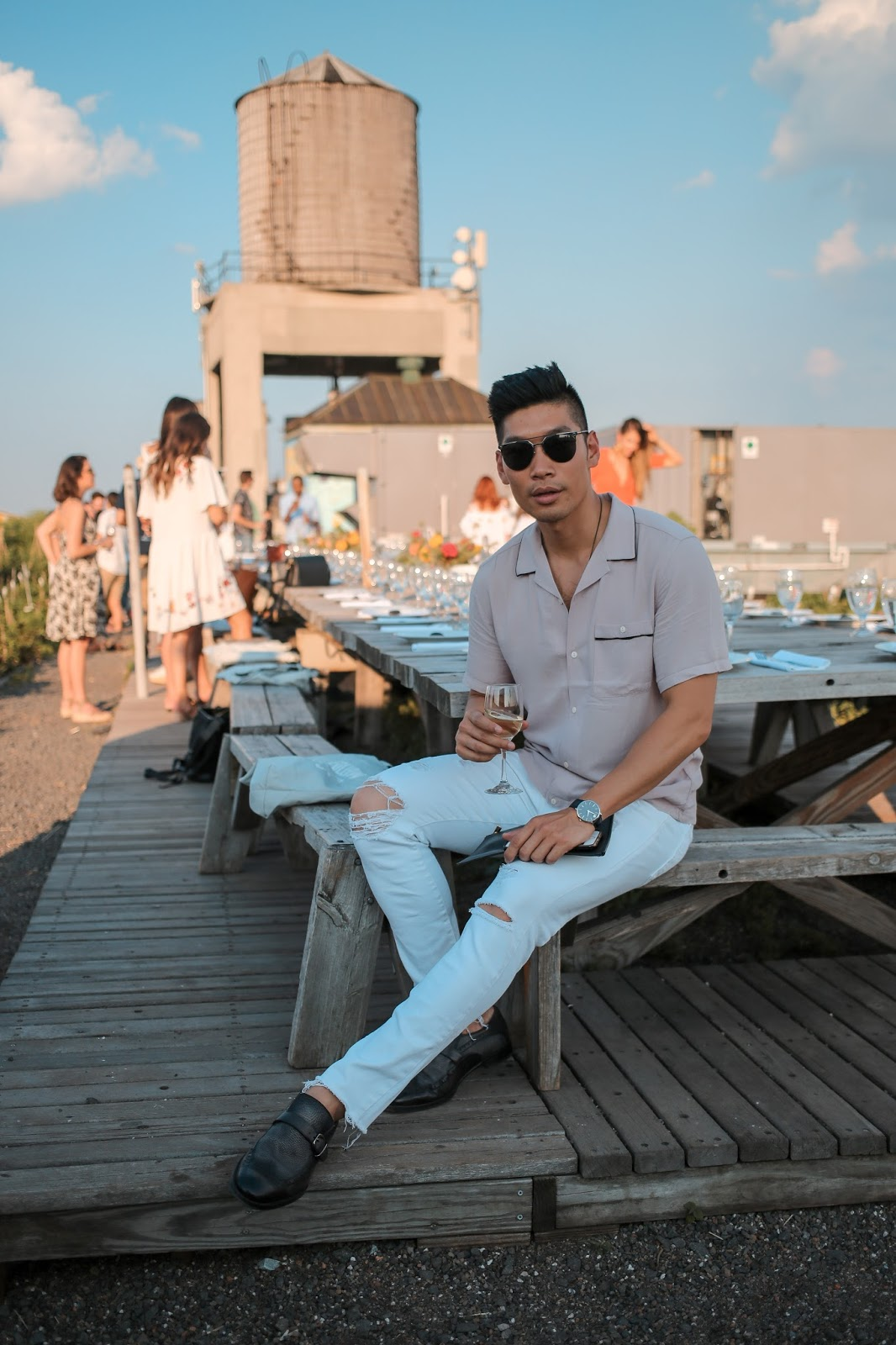 Men's Summer Style at Long Island City Rooftop Garden - Versace, Movado, True Religion, Dolce and Gabbana