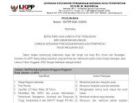 Lowongan Kerja Staf Pendukung Biro Umum dan Keuangan LKPP Tahun Anggaran 2020