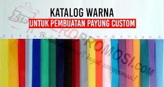 Katalog warna untuk pembuatan payung custom