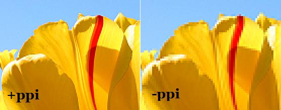 Exemplo diferença de ppi