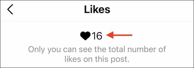 أنت فقط ستكون قادرًا على رؤية عدد الإعجابات في مشاركاتك الخاصة.