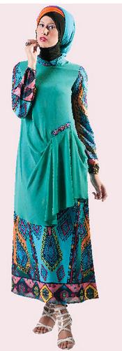 Foto Baju Batik Muslim Modern Buat Remaja