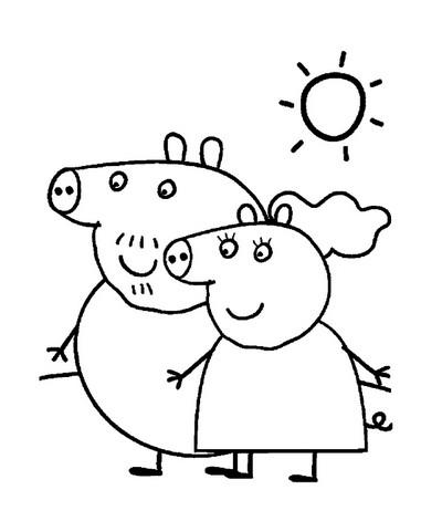 Peppa pig da colorare per bambini for Maschere di peppa pig da colorare