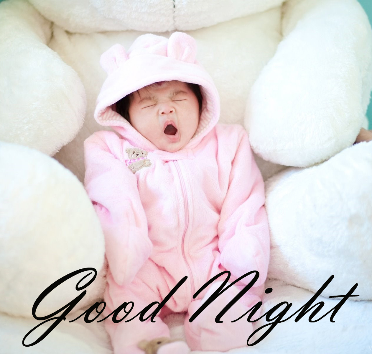 Cute Good Night Quotes wishes with Cute Babies Images