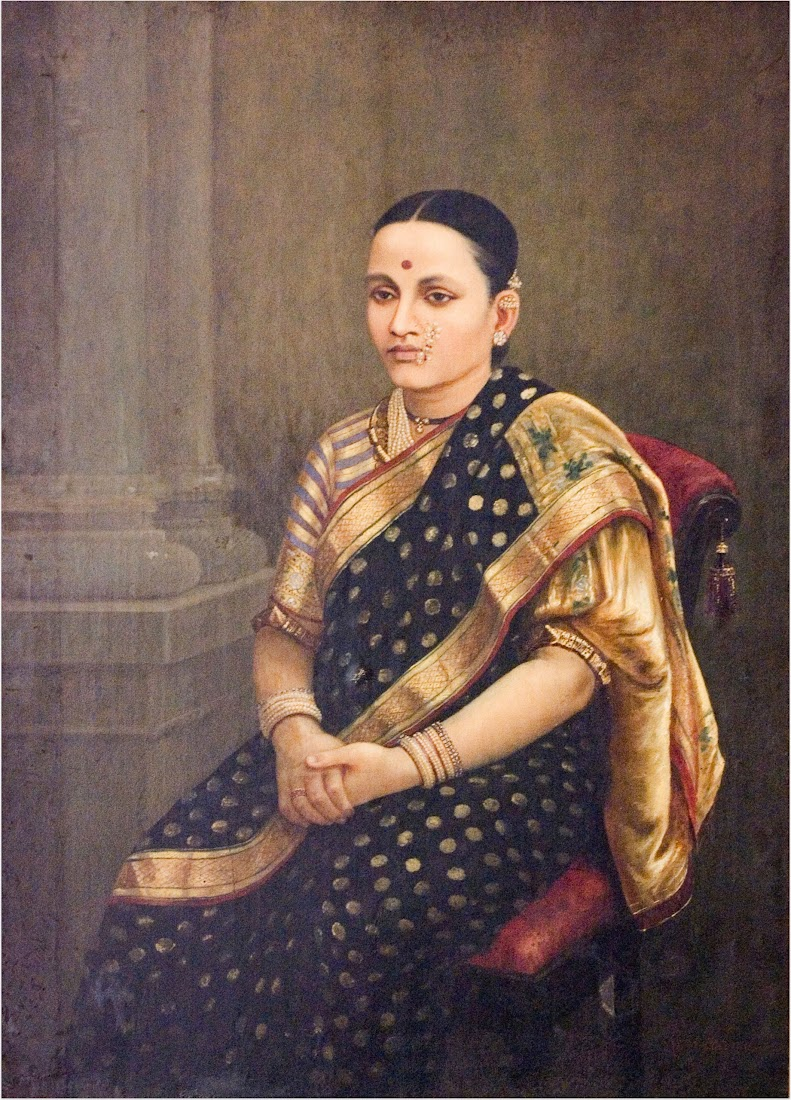 Portrait of a Lady by Raja Ravi Varma - Late 19th Century