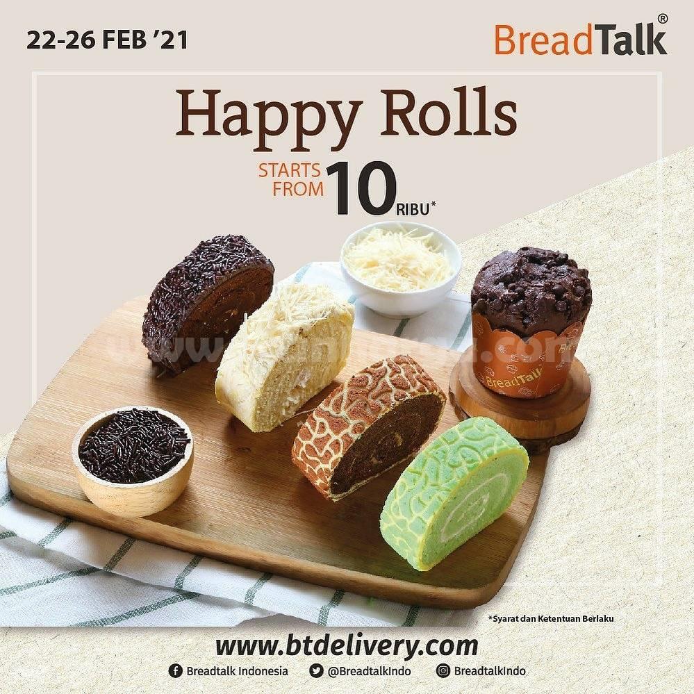 BREADTALK Promo HAPPY ROLL! harga mulai Rp 10.000
