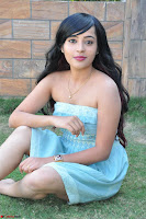 Sahana New cute Telugu Actress in Sky Blue Small Sleeveless Dress ~  Exclusive Galleries 058.jpg