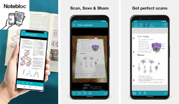 Notebloc - Φωτογράφισε έγγραφα και μοιράσου τα ως PDF με το smartphone σου