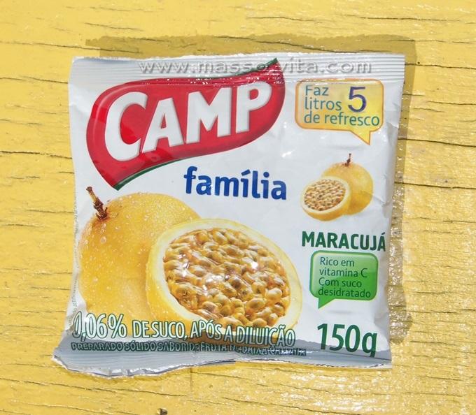 Refresco em pó Camp Família Maracujá