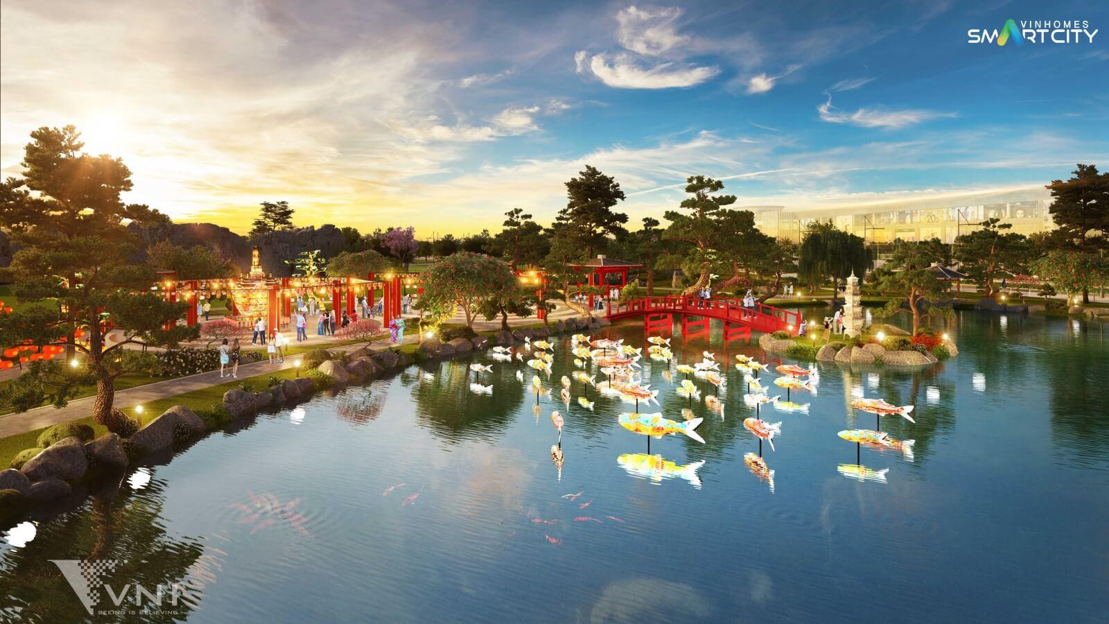 Hồ cá chép của Vinhomes Smart City Tây Mỗ
