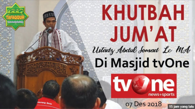 Kerap Dicekal, UAS Malah Diundang Khusus Khutbah Jum'at di Masjid tvOne