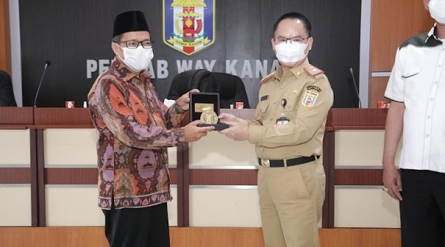 Kunjungan Reses Anggota DPRD Lampung Disambut Plh Bupati Way Kanan