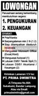 Karir Lampung Terbaru di PT. Prima Dwimitra Bandar Lampung Juni 2018
