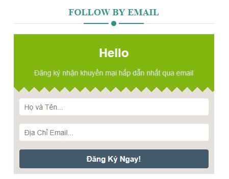 Hướng dẫn tạo hộp đăng ký theo dõi giống CanhMe cho Blogspot