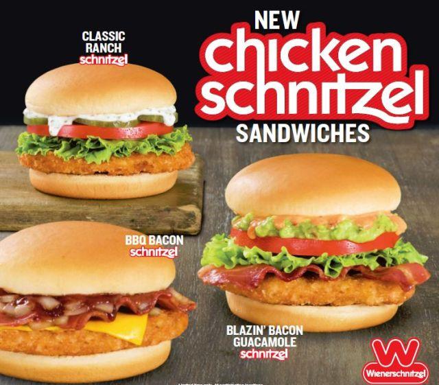 Wienerschnitzel Food Menu