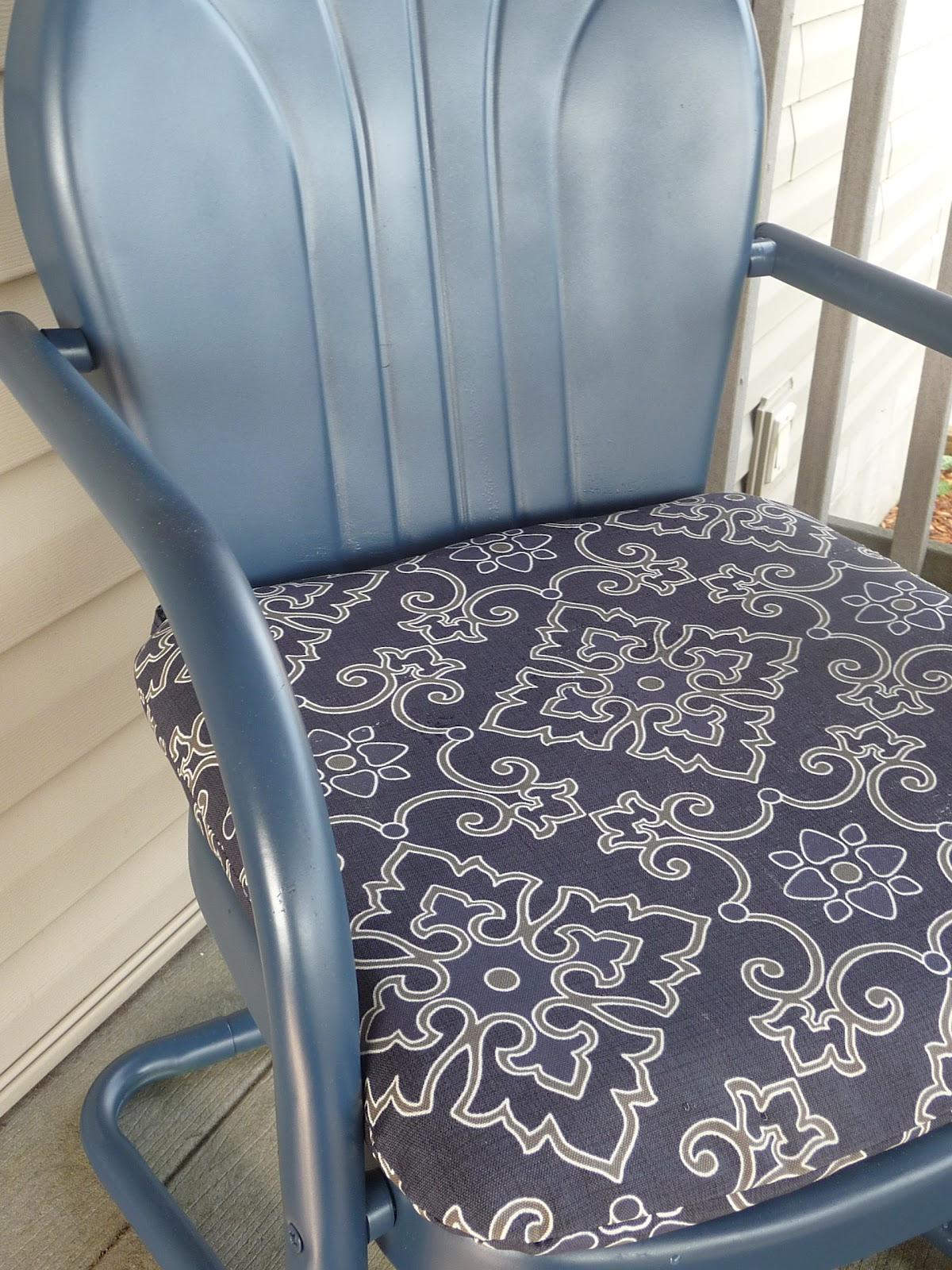 Old Metal Chairs Baby Bounce Chair Making A Home Vintage Redo