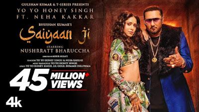 Saiyaan Ji Song Lyrics - Yo Yo Honey Singh, Neha Kakkar