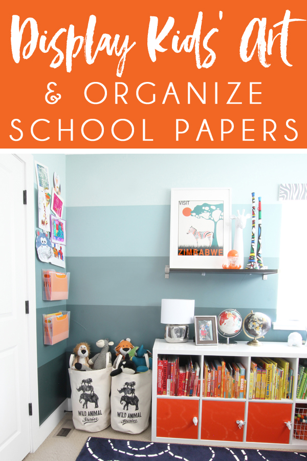 how to display kids art organizing school papers