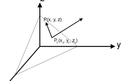 Vector Line and Field Equations in 3rd Dimension