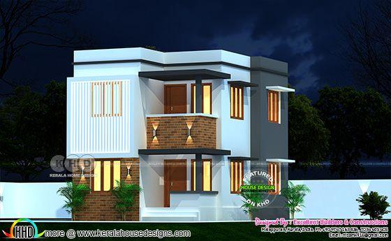 Modern contemporary design, flat roof construction