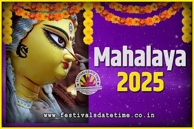 2025 Mahalaya Puja Date and Time Kolkata, 2025 Mahalaya Calendar