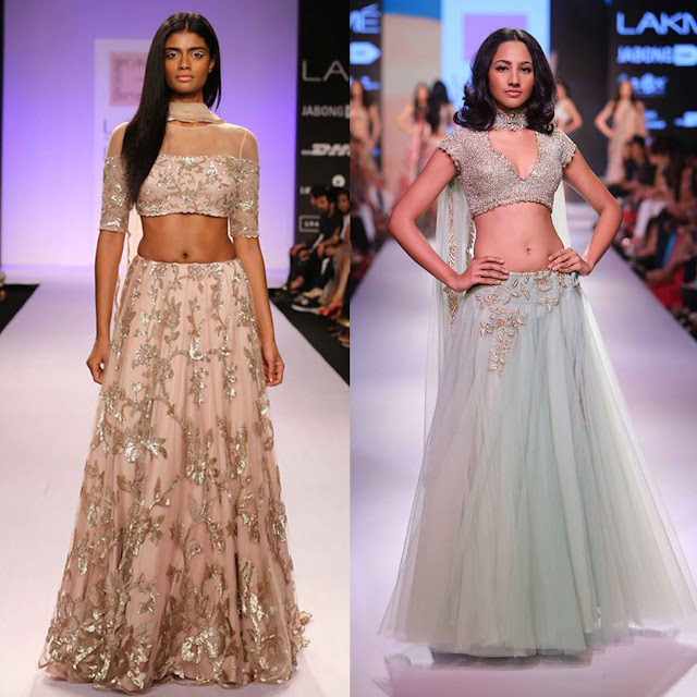Flared Lehenga By Shehla Khan