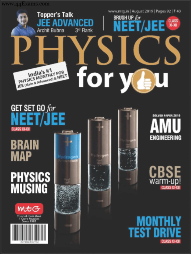 Physics-Magazine-August-2019-For-NEET-JEE-Exam-PDF-Book