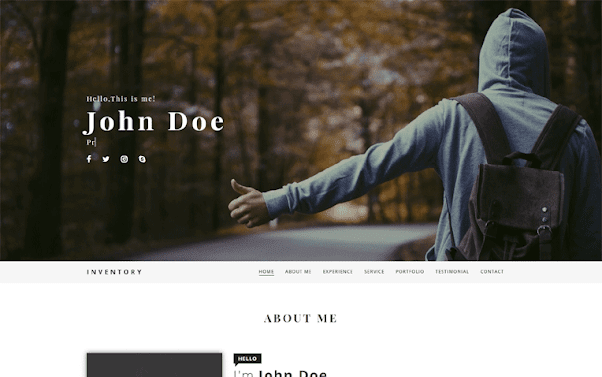 Inventory Free Blogger Template