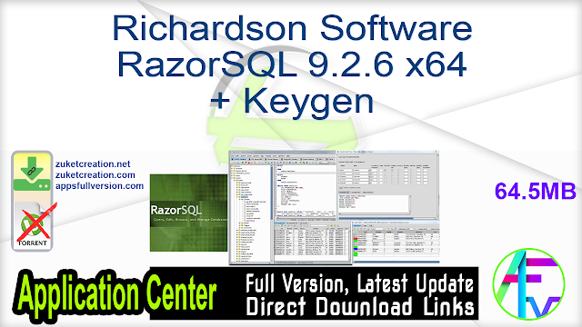 Richardson Software RazorSQL 9.2.6 x64 + Keygen