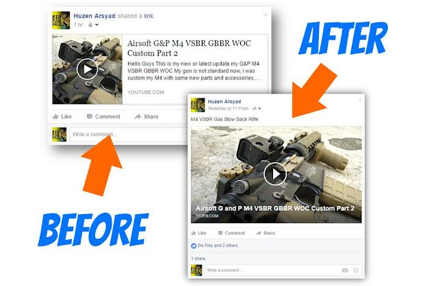 cara agar video youtube tampilannya sama dengan tampilan video facebook