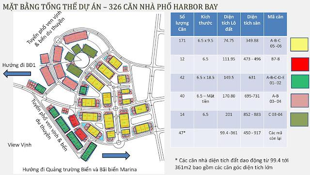 Mặt bằng phân lô Shophouse Harbor Bay Hạ Long