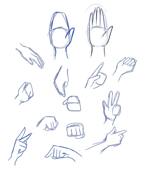 How to draw Manga Hands Featured Image