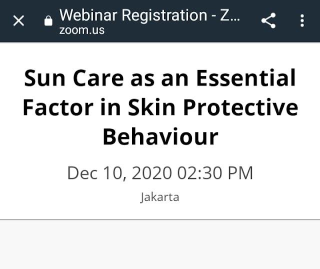 Webinar PERDAWERI *Sun Care as an Essential Factor in Skin Protection Behaviour*