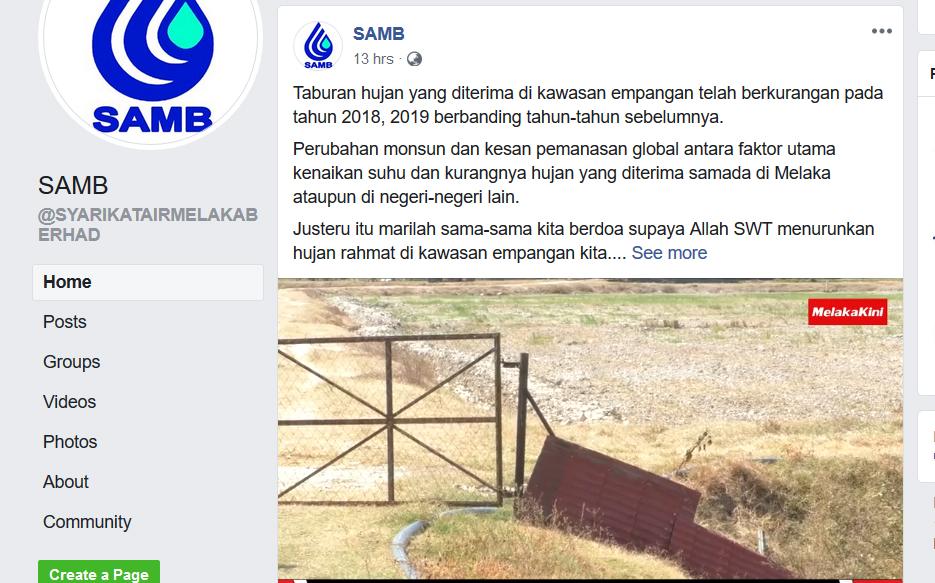 Catuan Air Di Negeri Melaka